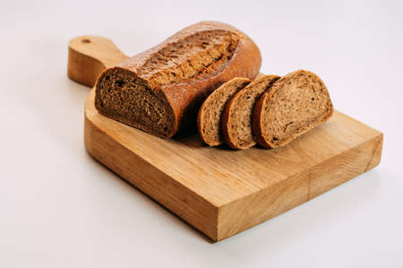 Gluten free homemade bread. Healthy food. Gluten-free whole grain rye bread sliced. Stock Photo