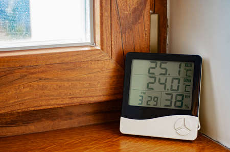 Home weather station. Digital indoor temperature and humidity sensor.