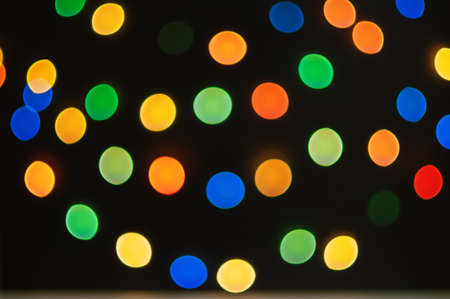 Bokeh lights background. Christmas concept. Abstract multicolored light.