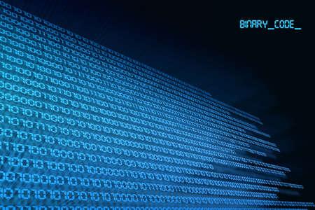blue black background binary code, zero & one photo