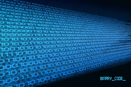 blue black background binary code zero & one