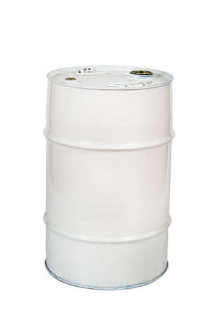 Metal barrel for liquids Stock Photo