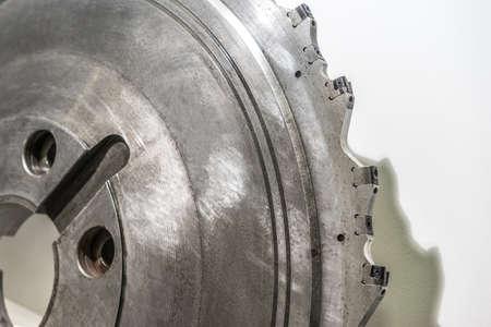 Cutter for metal. Metal processing. Large milling cutter for industrial metal processing. Standard-Bild