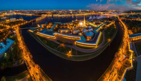 View of St. Petersburg. Panorama of Russian cities. Peter-Pavel's Fortress. Panorama of Petersburg. Russian Federation. City of Russia.