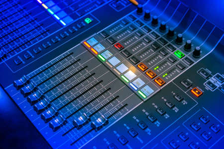 The sound engineer's console. Musical mixer. Director's panel.