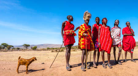 Africa Kenya. Residents of the Masaya Mara. The nationalities of Africa. The Masai Mara tribe in Kenya. Leanings in Africa. December 31, 2005