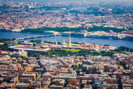 Saint Petersburg. Russia. Peter and Paul Fortress in St. Petersburg. Petersburg from Altitude. Cities of Russia. Panorama of the city.
