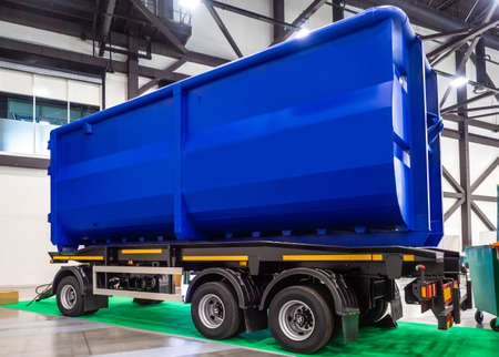 Trailer dump truck. Trucks. Special machinery. Transportation of oversized cargo. Transportation dump truck bulk cargo. Cargo transport industry.