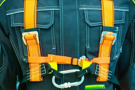 Assembly safety belt. Assembly sling. Safety sling. The holding belt. Security. Insurance for installation work