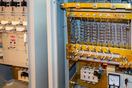 High voltage switchboard. Power distribution cabinet. Power system. Energy supply. Electrics. Electrical product. Relay protection and automation.
