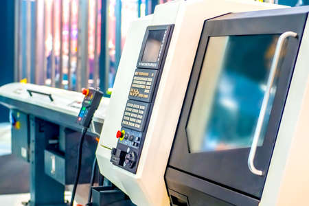 Programmable milling machine. Programmable machine with numerical control. Milling industry. CNC technology. Industrial equipment. Standard-Bild