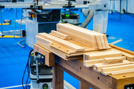 Joiner's shop. Wooden blanks for furniture. Furniture repair. Furniture workshop. Equipment for the carpentry shop. Crafting table. Joinery teski.