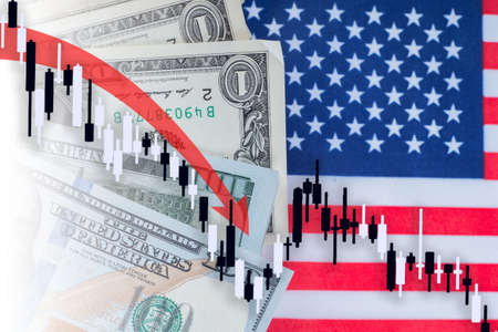 Economic crisis in the USA. The decline in the American economy. Decline in industrial production in the United States. America's economic indicators are falling.