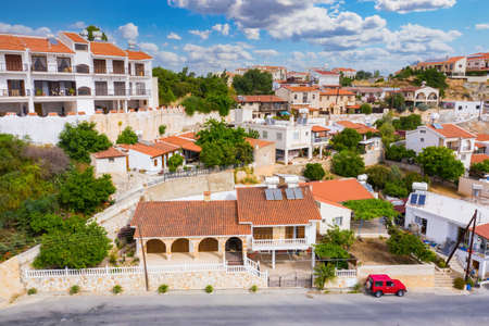 Cities of island of Cyprus. Limassol view from drone. Cyprus architecture. Concept - apartment rental in cyprus. Limassol apartments for tourists. Panorama with residential buildings in Limassol.