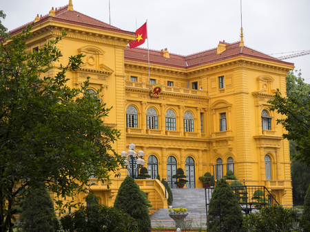 Presidential Palace in Hanoi, Vietnam, built between 1900 and 1906 to house the French Governor-General of Indochina.