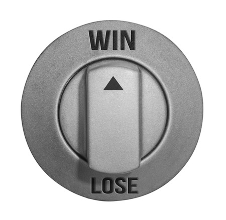 jack pot: win or lose button Stock Photo