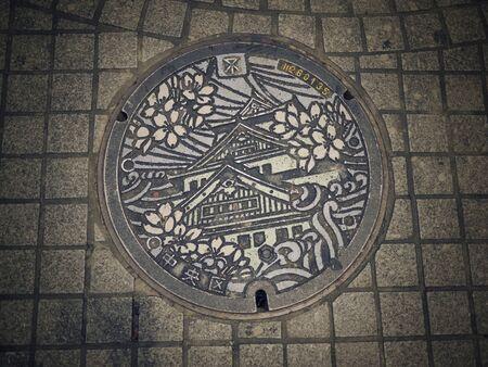 manhole: Japan manhole Editorial