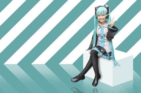 anime young: Japan anime cosplay