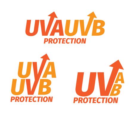 UVA és UVB védelmet logo Illusztráció