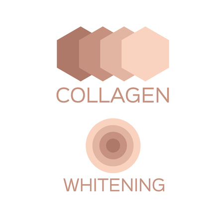 whitening: collagen and whitening Illustration