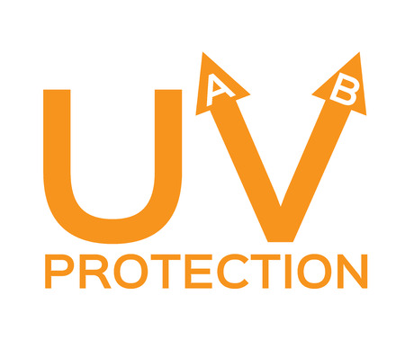 suntan lotion: uva, uvb Illustration