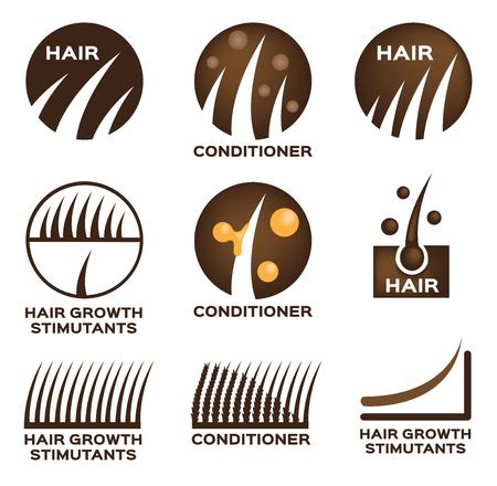 hair logo set