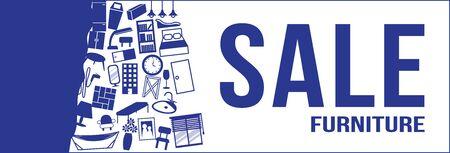 2nd: furniture sale 2nd edition, blue color Illustration