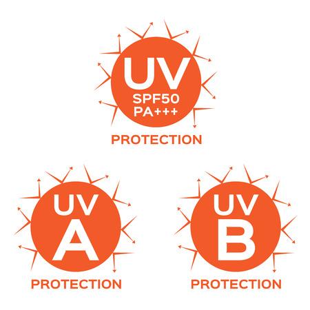 uva: UV LOGO , uva uvb with orange color