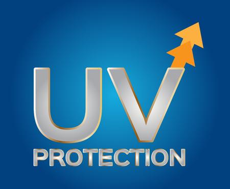 radiacion solar: logotipo de la protección ultravioleta, UV logo Vectores