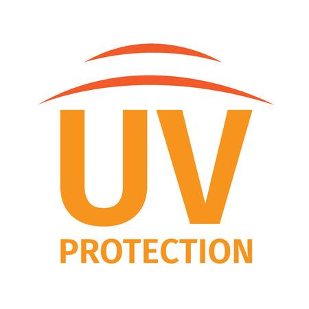 uv protection logo , 2 shield uv logo Ilustrace