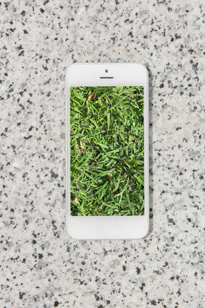 nature picture: mobile , smart phone with nature picture and city at the background , nature mobile set 3