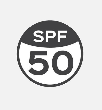 50: spf 50 , uv , logo and icon vector