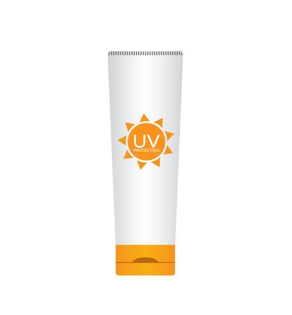 uv: uv protection package set , uv cream , uv pack version 2 Illustration