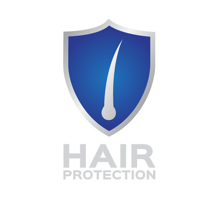 cuticle: hair shield protection . hair set 2 , Illustration