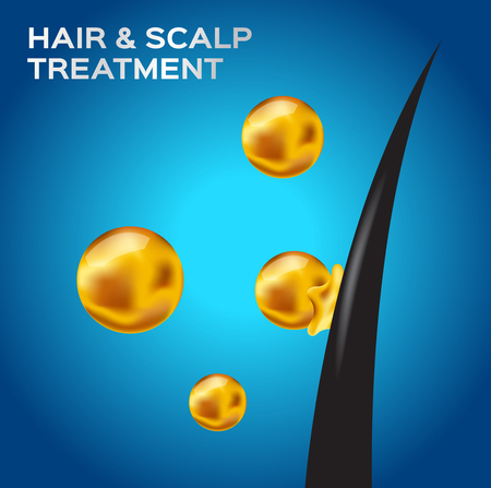 hair & scalp treatment vector . hair conditioner vector