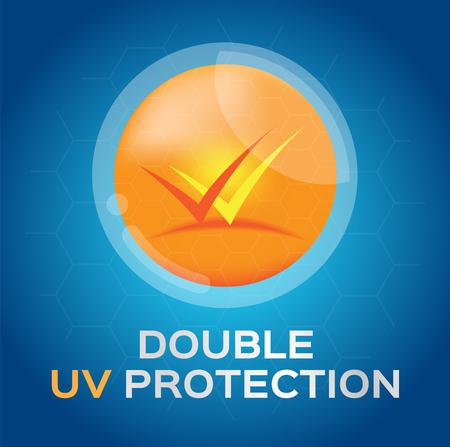 skin burns: double uv , uv a and uv b protection