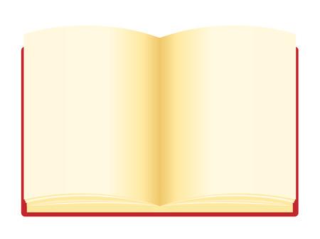 open notebook: Open notebook , notebook vector illustration