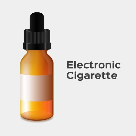 electronic: electronic cigarette vector . electronic cigarette bottle