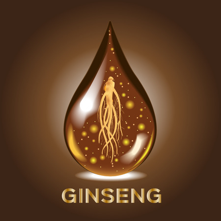 serum: ginseng vector , ginseng drop Serum , ancient traditional medicine , cosmetic