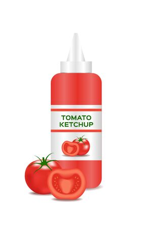 tomato sauce: ketchup vector with a tomato , tomato sauce Illustration