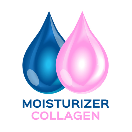 collagen and moisturizer icon and vector. double moisturizer collagen