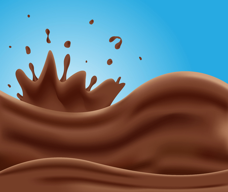 choc: Tasty milk chocolate vector , milk chocolate background