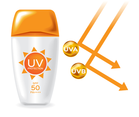 melanoma: uv protection pack and uv a , uv b reflect san light vector