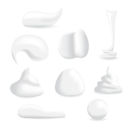 Vektor White hidratáló hab krém Mousse szappan testápoló. hidratáló kollagén hab krém Mousse ver minden