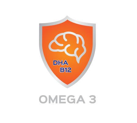 omega: omega 3 icon vector.