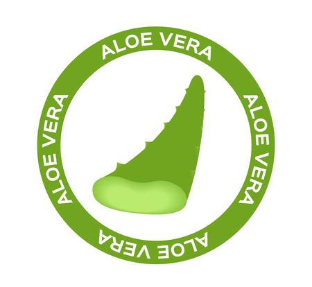 vera: Aloe vera and drop vector illustration, template logo. Company design