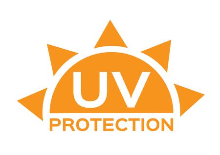 Ikona ochrona przed promieniowaniem UV Ilustracje wektorowe