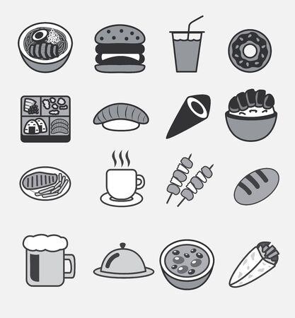 all food icons Vektorové ilustrace