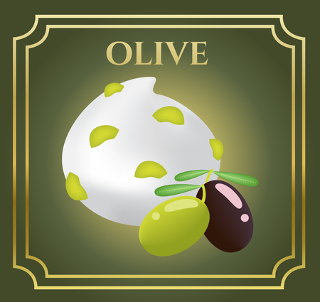 mousse: Vector icon White moisturizer and collagen Foam Cream Mousse Soap Lotion with olive oil Illustration