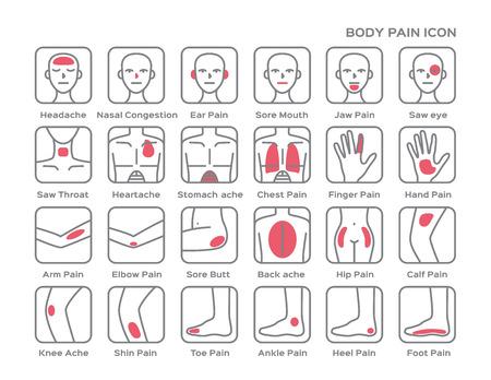 back of leg: body pain icon logo , pain vector